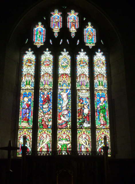 Stained glass, St Andrew's Church, Moretonhampstead