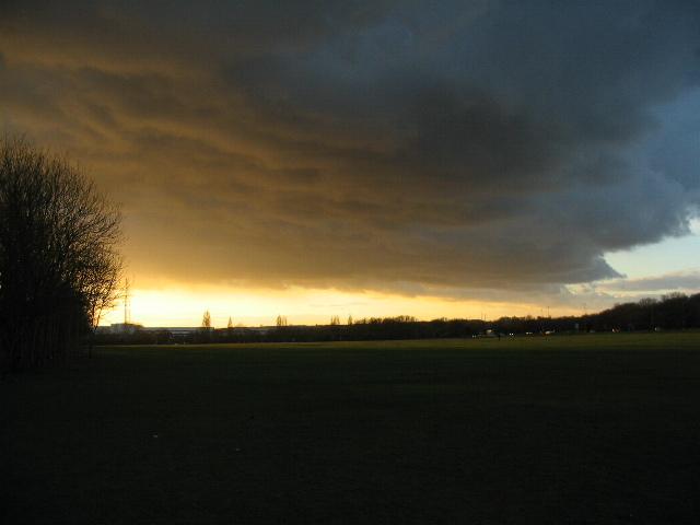 Weather front over west Coventry