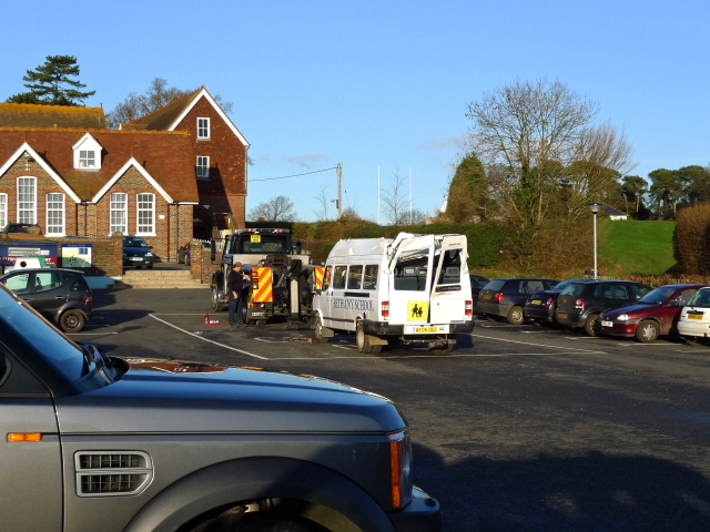 Bent Bus at Bethany School Curtisden Green