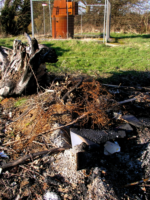 Bethany School Waste Bonfire at Worms Hill