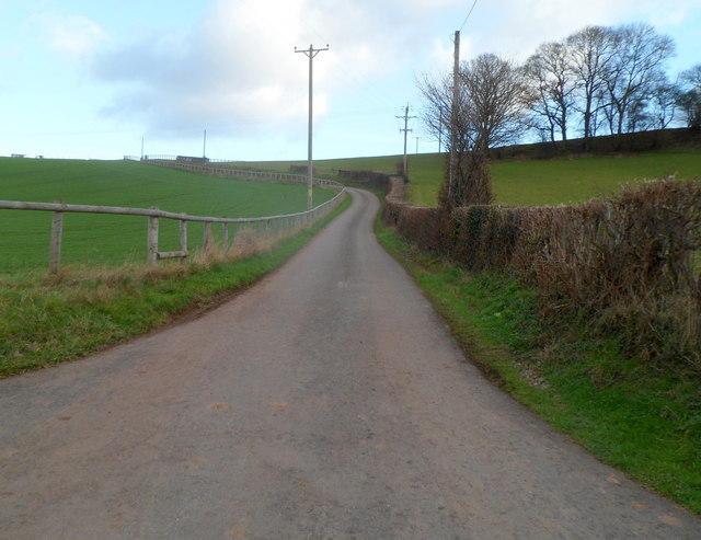 Road to Deepholme Farm near Rockfield
