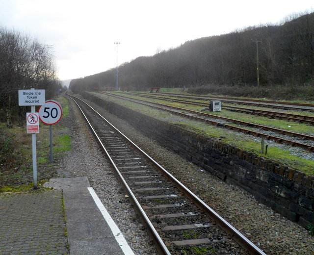 A view SE from Treherbert railway station