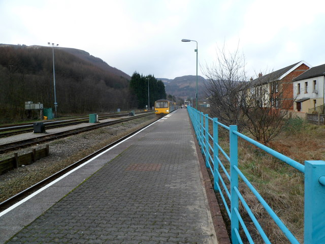 Treherbert railway station platform