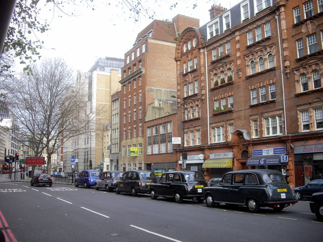 Taxi queue in Vauxhall Bridge Road