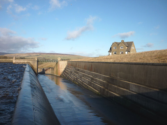 Overflow and spillway, Grassholme Reservoir