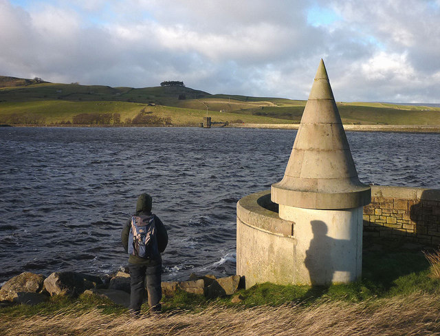Turret at the top of the overflow, Grassholme Reservoir