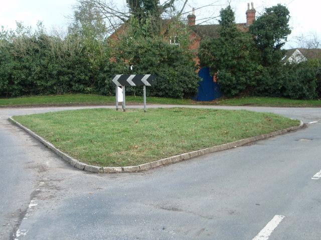 A grass triangle