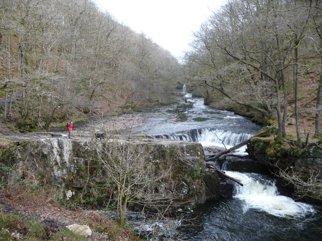 Run of waterfalls on the Nedd Fechan