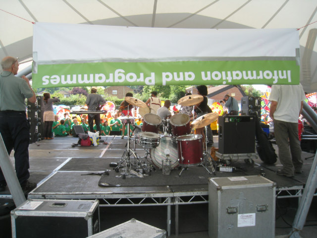 Preparing for World Party in the Park