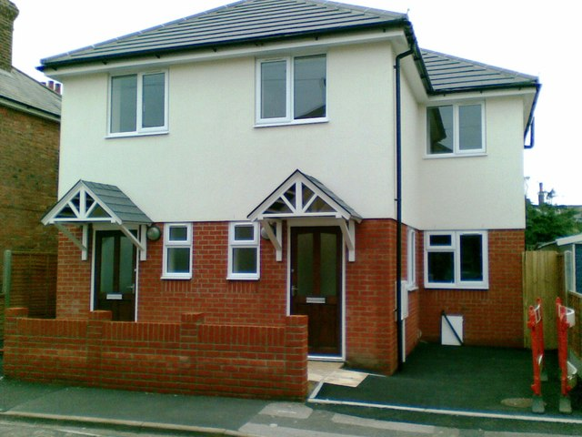 New houses, Livingstone Road