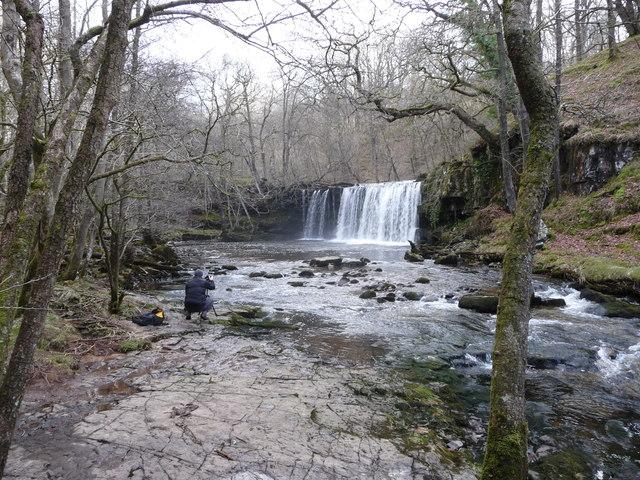 Sgwd Ddwli Uchaf waterfall on the Nedd Fechan