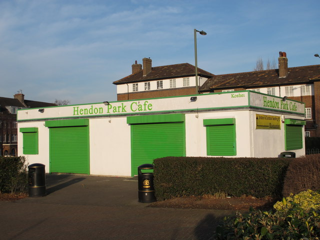Hendon Park Cafe, Queen's Road (B551), NW4
