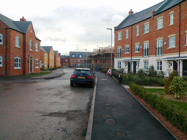 New housing development, Two Gates