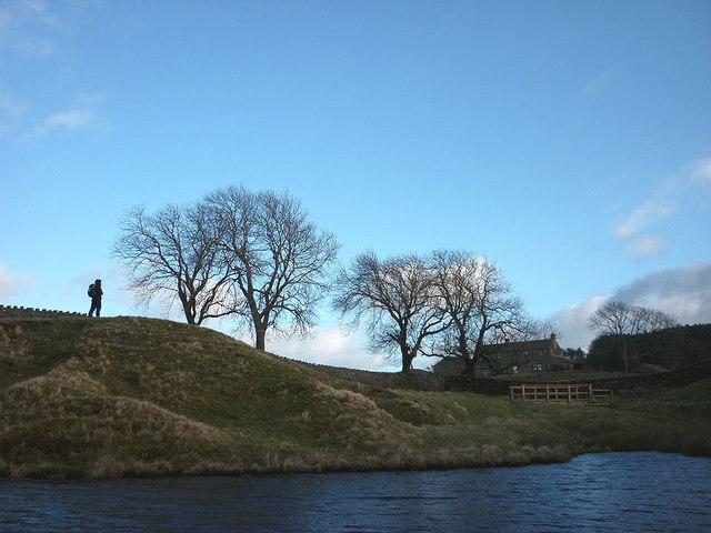 The Wester Beck inlet of Grassholme Reservoir
