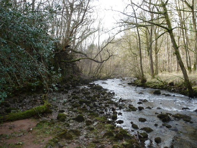 Part of the Afon Nedd Fechan upstream of Pont Melin-fach