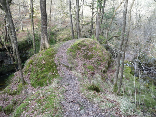 Outcrop above the Nedd Fechan