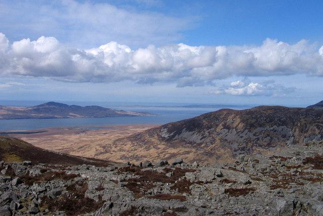 Rocky ground at summit of Dubh Bheinn