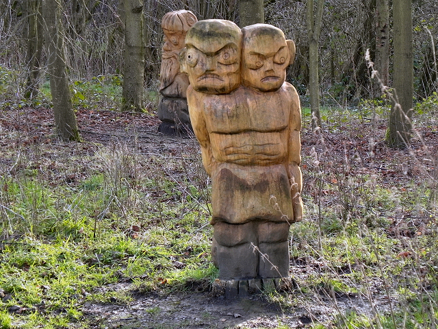 Wooden Carvings, Burrs Country Park