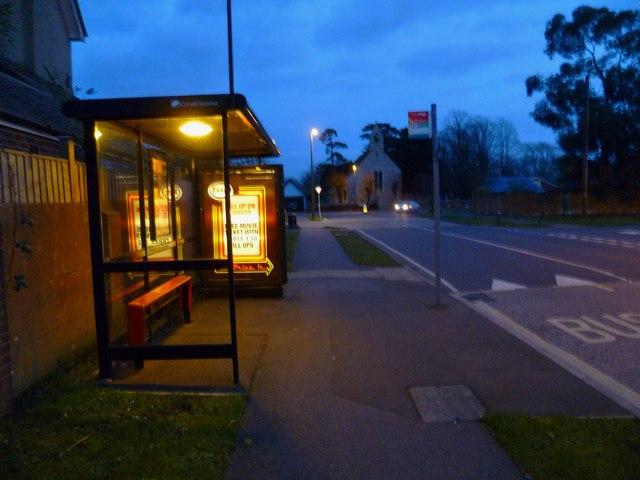 Bus stop in Kingsham Avenue