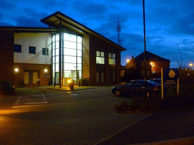 Chichester Custody Centre on Kingsham Road