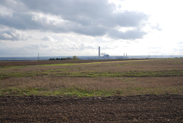 Kingsnorth Power Station in the distance