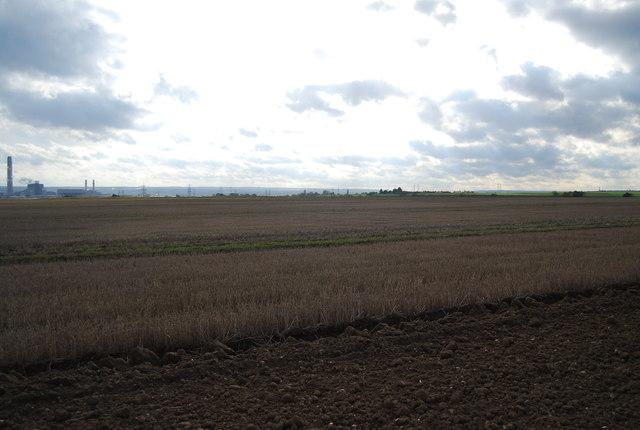 Stubble field, New Barn Farm