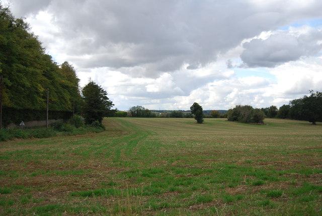Farmland seen from The Slade