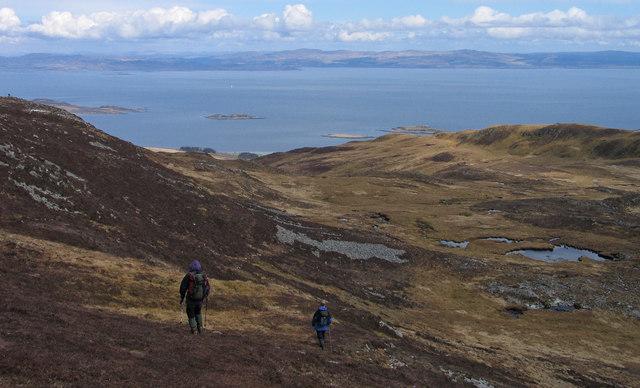 Slopes of the ridge, Dubh Chreag