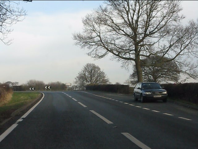 A49 approaching the junction for Wrenbury