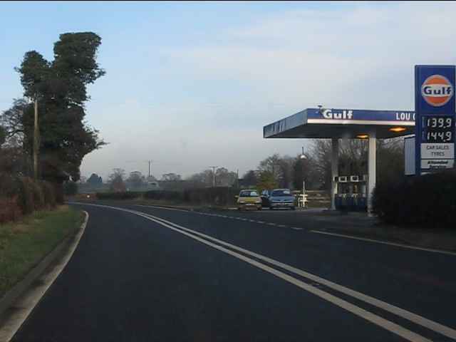 Bickley Moss filling station, A49