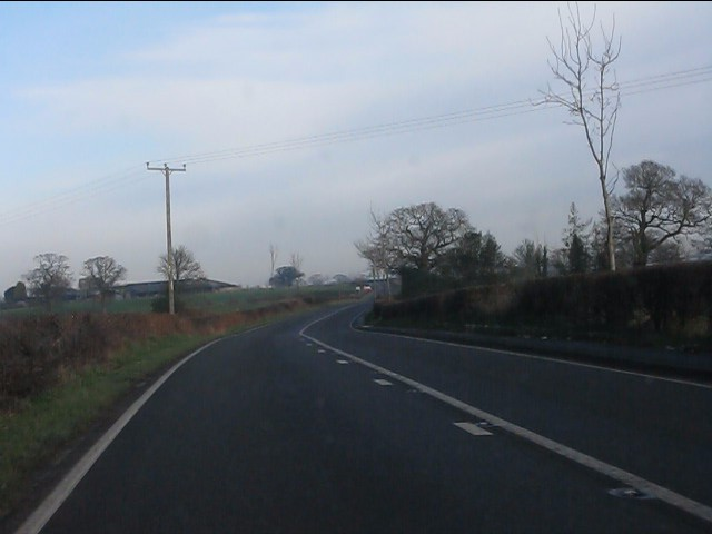 A49 north of Bickley Moss