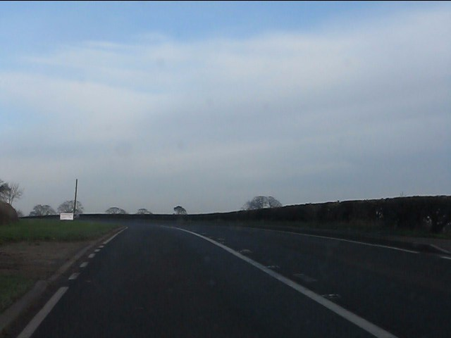 A49 at the back entrance to Park Farm