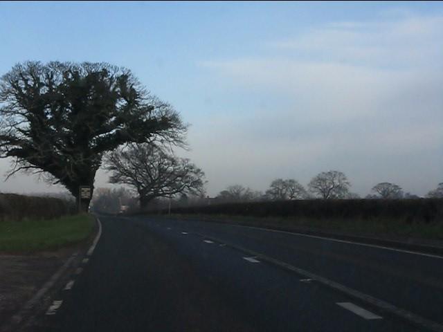 A49 at the main entrance to Park Farm