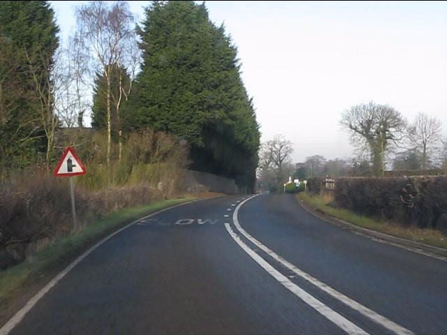 A49 approaching Badcock Lane