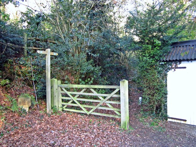 Public footpath finger post