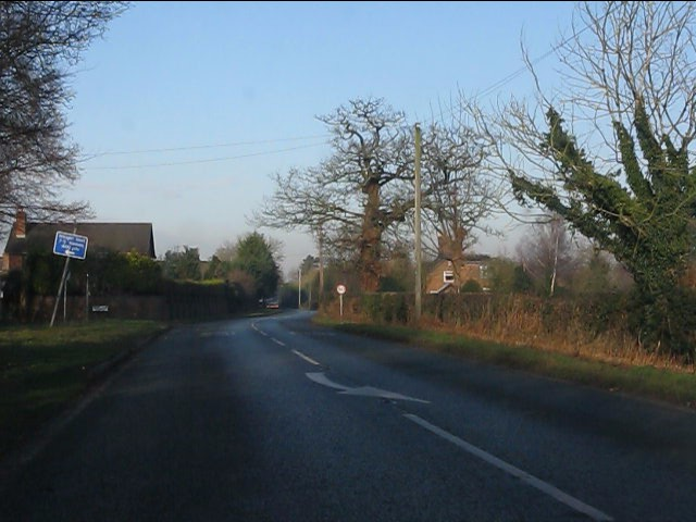 A49 entering Sprustow