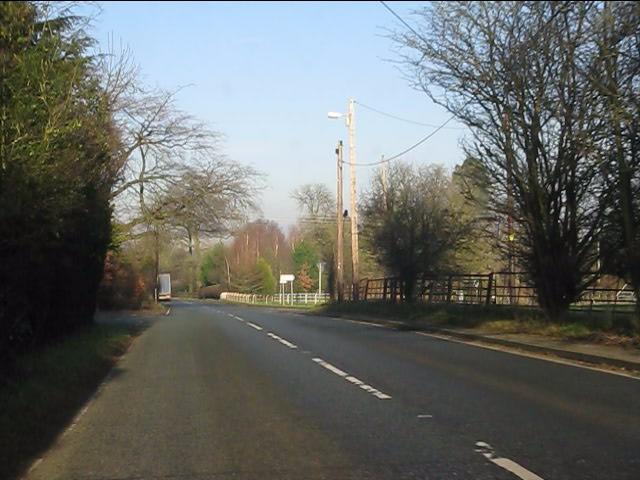 A49 approaching Spurstow crossroads