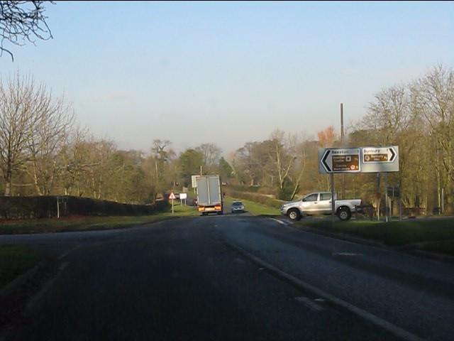 A49 at Bunbury Heath crossroads