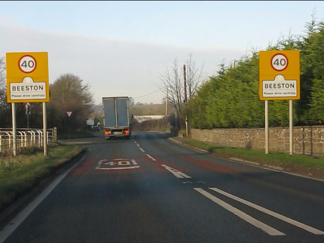 A49 enters Beeston