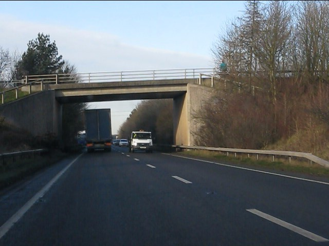 Birch Heath Road overbridge, A49