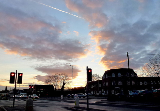 Big sky over Llanthony Road
