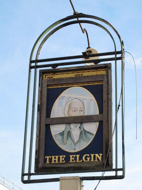 Sign for The (former) Elgin, Bell Lane, NW4 (2)