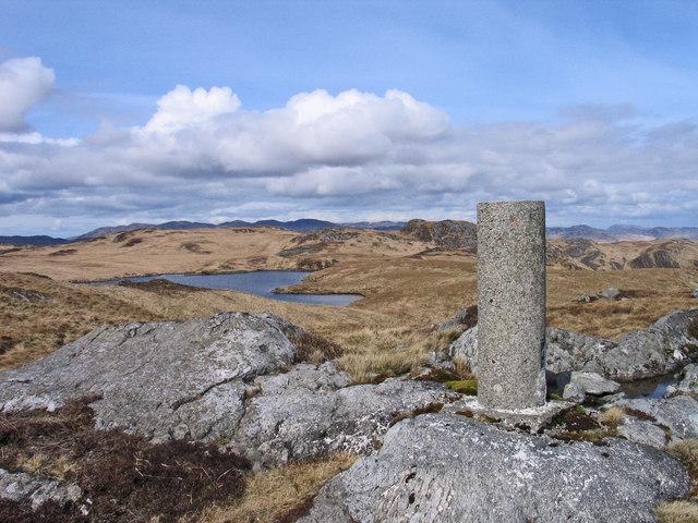 Trig point of Clach an Roin