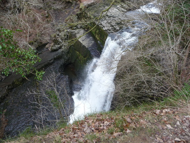 Sgwd Clun-gwyn waterfall on the Afon Mellte