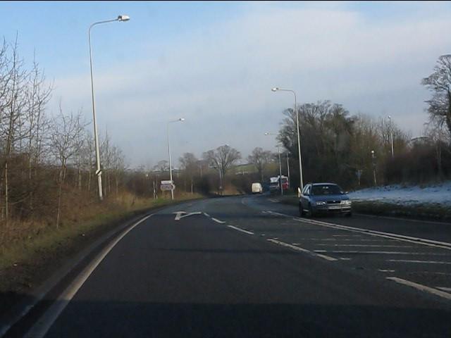 A49 approaching Tarporley Road