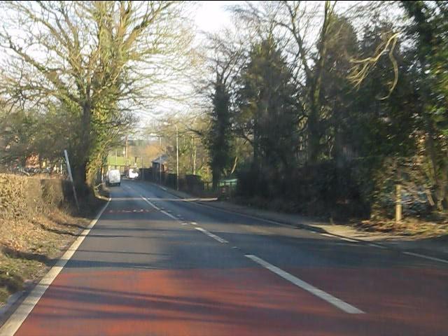 A49 approaching Cotebrook