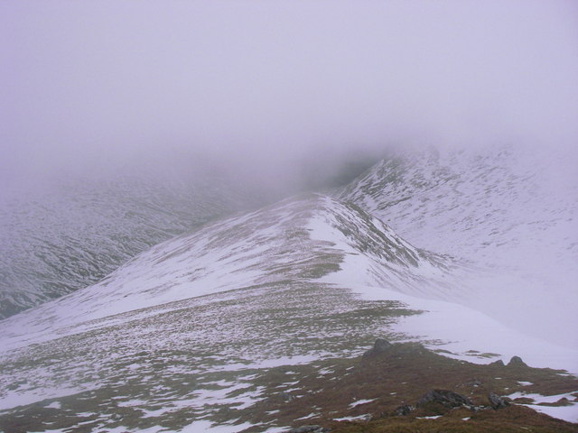 An Stuc north ridge