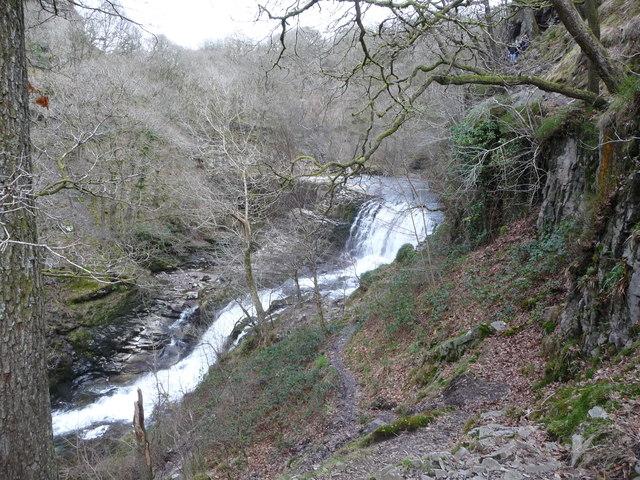 Sgwd Isaf Clun-gwyn waterfalls on the Afon Mellte