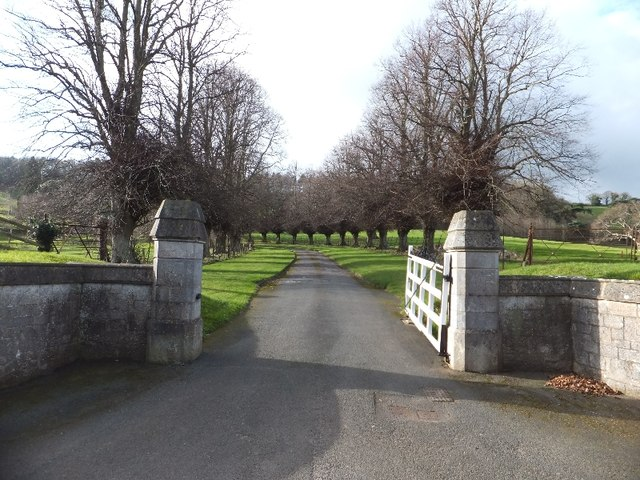 The gate and drive of Langdon House