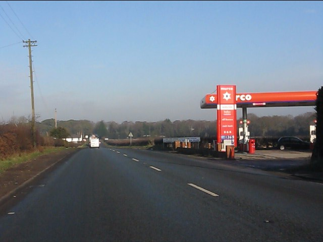 Filling station on the A49